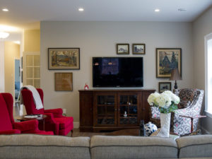 create a vignette with artwork around your television