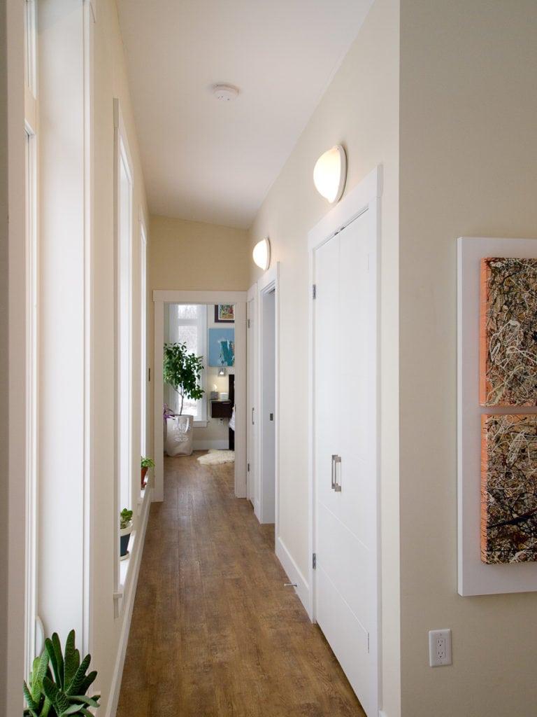 marine lights in hallway