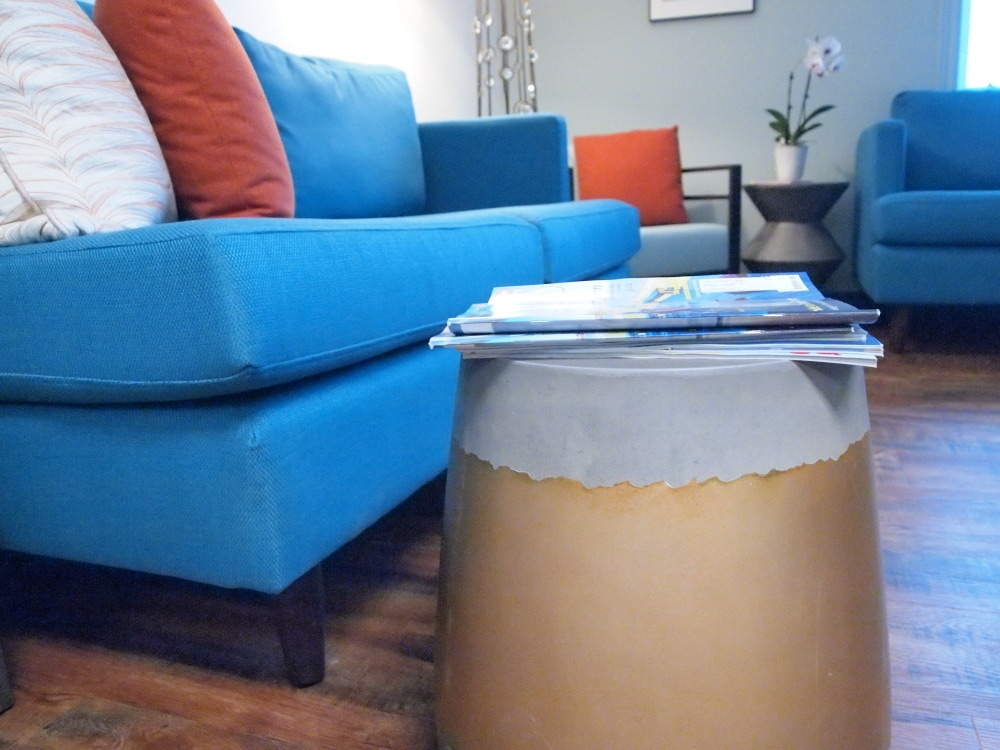 Side Table in Waiting Room