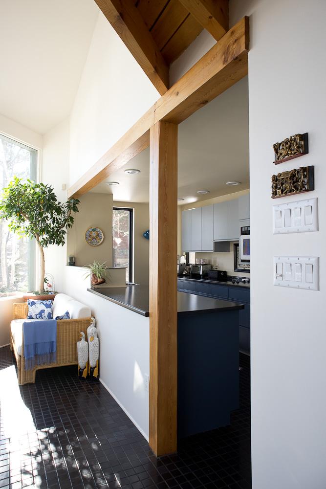 post and beam kitchen