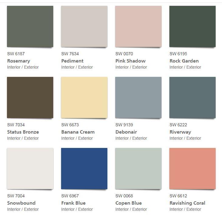 Colour Palette 2019 Deborah Nicholson Interiors Halifax And