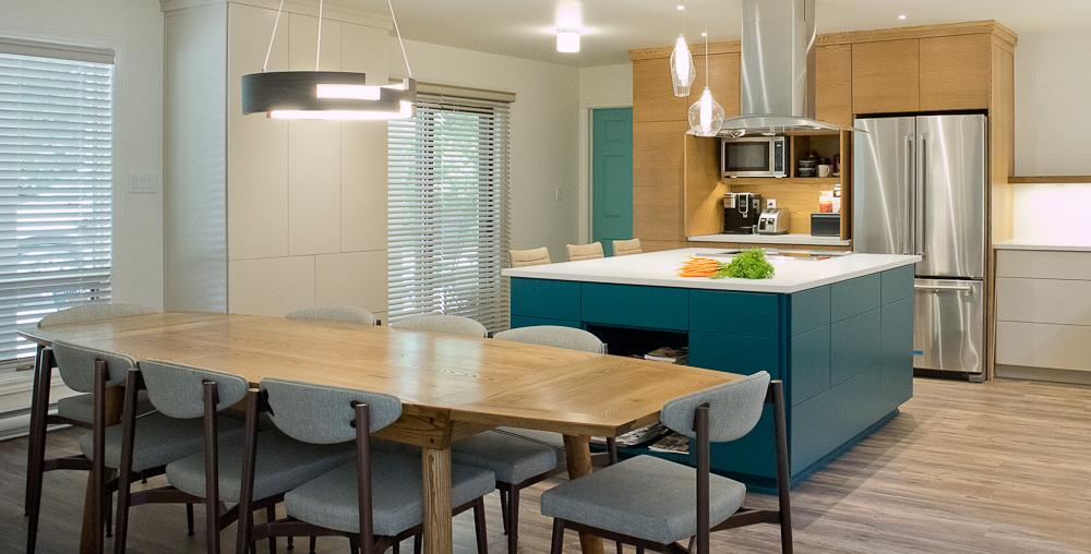 open concept dining kitchen
